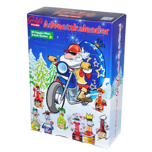 gr f s adventskalender 24 x 20ml motiv motorrad gr fs. Black Bedroom Furniture Sets. Home Design Ideas