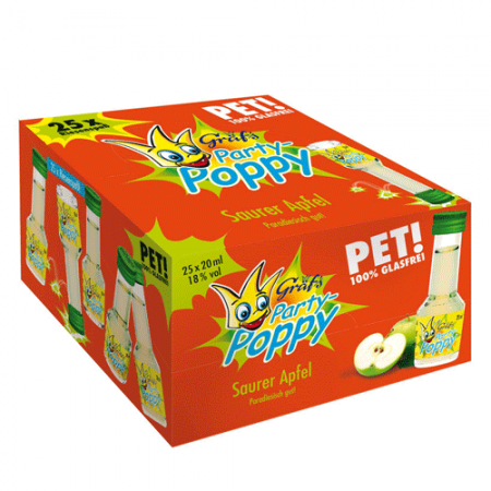 Gräf's PET-Party-Poppy Saurer Apfel